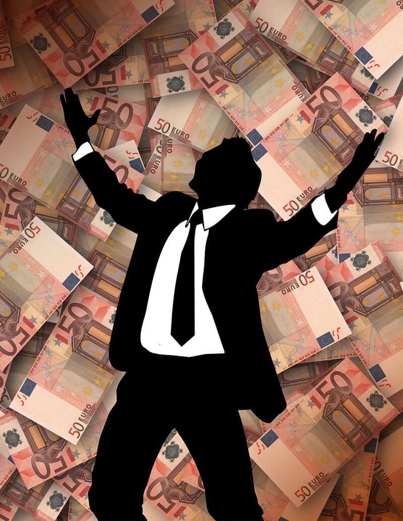 chlapík s peniazmi